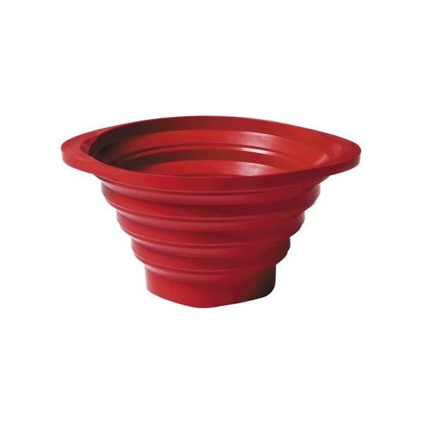 Skladacie cedidlo Strained 23 cm, červený