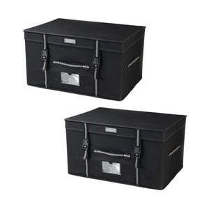 Set 2 úložných boxov Jocca Black