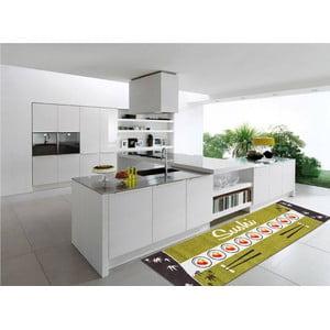 Vysokoodolný kuchynský koberec Sushi, 60x110 cm