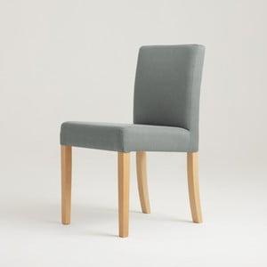 Svetlosivá stolička s prírodnými nohami Custom Form Wilton