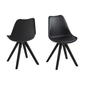 Jedálenská stolička Dima, čierna