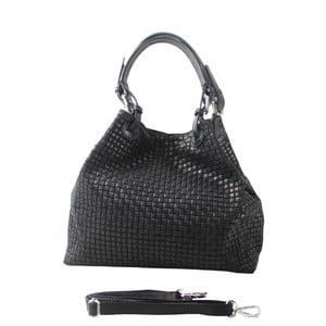 Čierna kožená kabelka Chicca Borse Julia