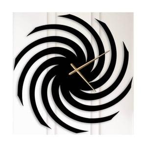 Čierne kovové nástenné hodiny Alma