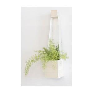 Biely kvetináč Really Nice Things Colgante