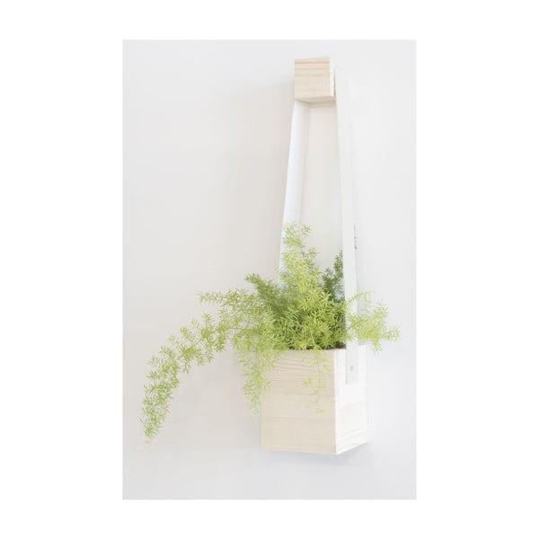 Biely kvetináč Really Nice Things Colgante, ⌀ 17×62 cm