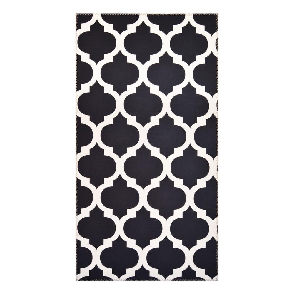 Čiernobiely koberec Vitaus Elisabeth, 80 x 150 cm