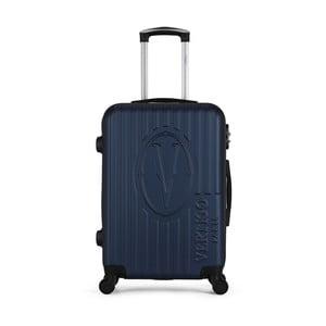 Tmavomodrý cestovný kufor na kolieskach VERTIGO Valise Grand Cadenas Integre Malo, 33 × 52 cm