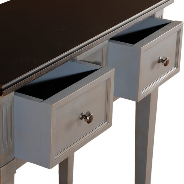 Odkladací stolík so 2 zásuvkami Belgique Grey