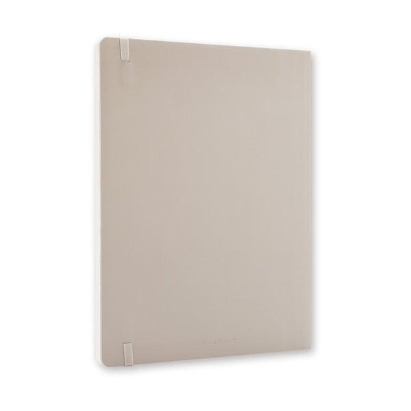 Extra veľký sivý zápisník Moleskine Hard, bodkované linky
