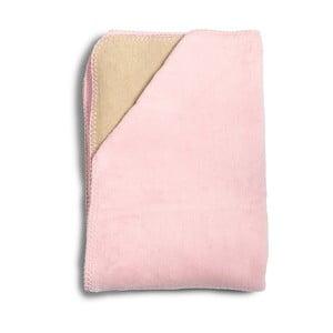 Detská ružová deka z mäkučkej bavlny YappyKids Sense, 75×100 cm