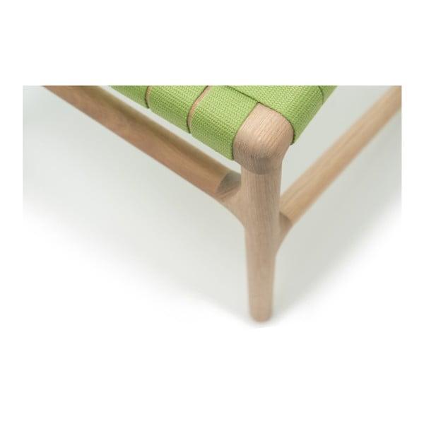 Stolička Fawn White Pigment Gazzda, zelená
