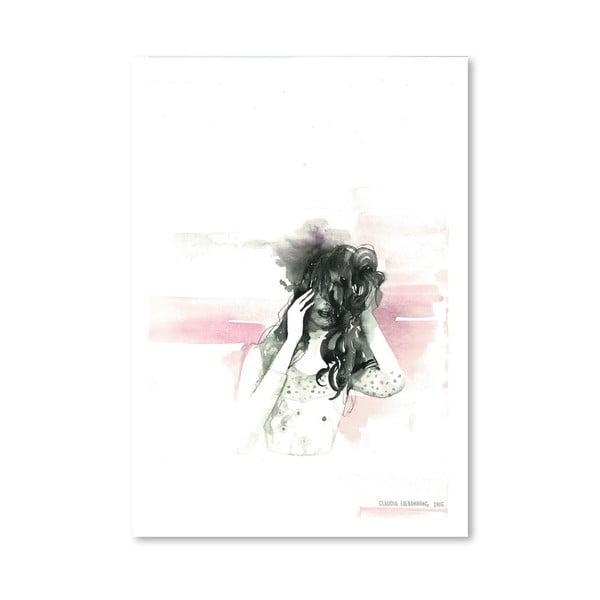 Plagát Pink Face, 30x42 cm