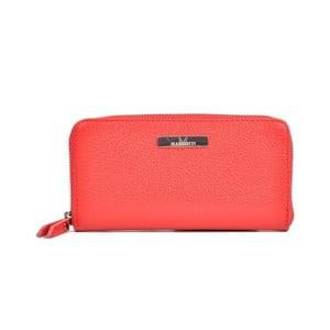 Červená kožená peňaženka Mangotti Bags Flora