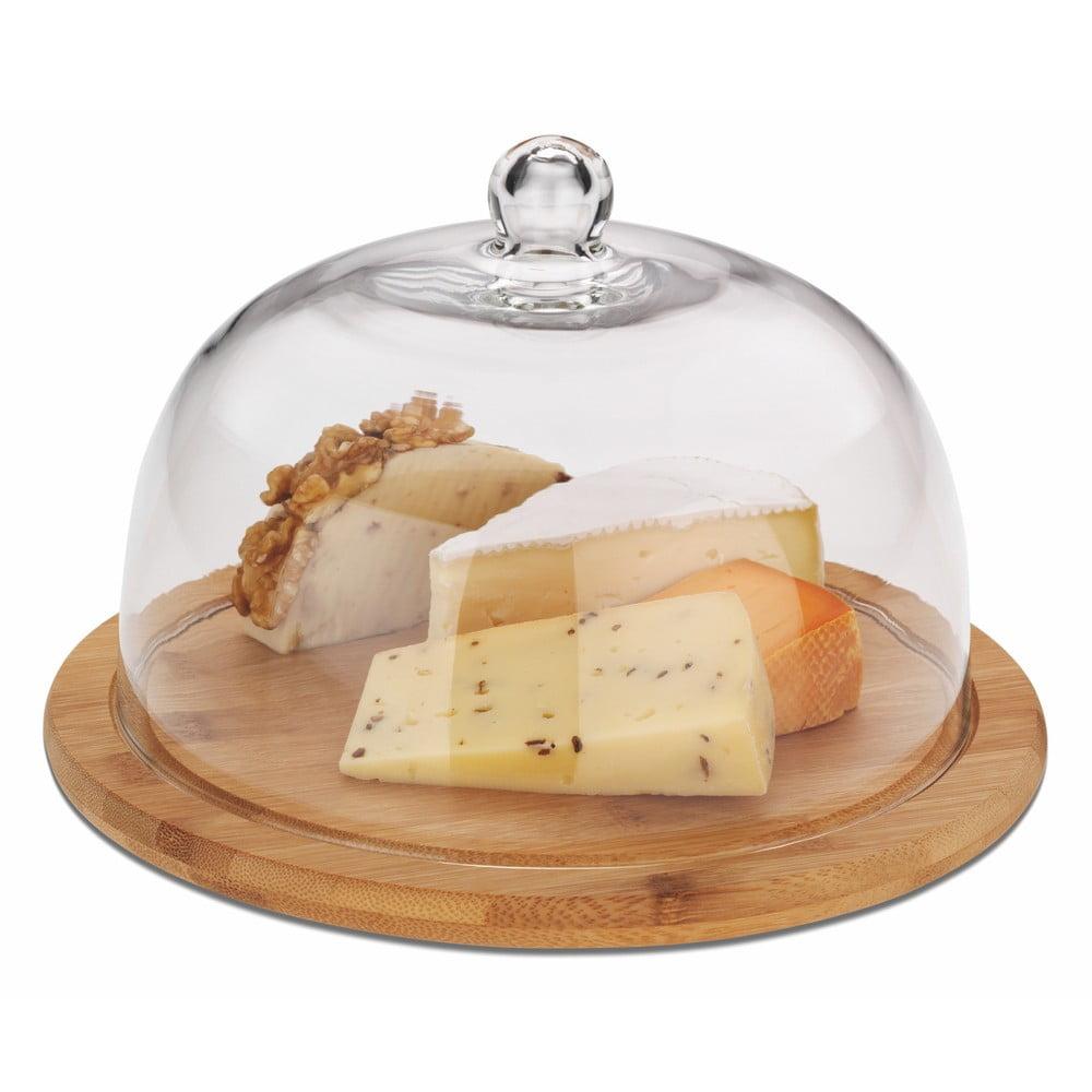 Lopárik z bambusu na sýr s pokrievkou Kela Katana, ø 24 cm