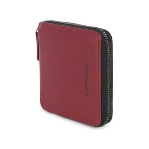 Červené puzdro na vizitky z talianskej kože Tucano Sicuro