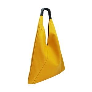 Žltá kabelka z pravej kože Andrea Cardone Manna