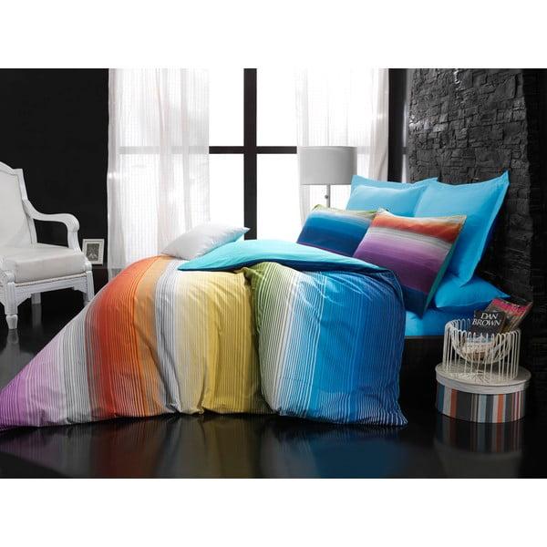 Obliečky s plachtou Rainbow Turquoise, 160x220 cm