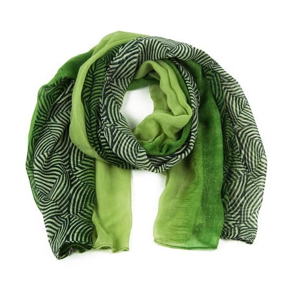 Zelená šatka Art of Polo Irene