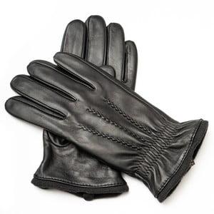 Pánske čierne kožené rukavice Pride & Dignity Tom, veľ. XL