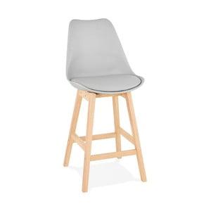 Sivá barová stolička Kokoon April