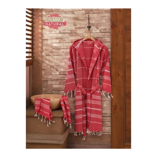 Set župana a uteráka Sultan Red, veľ. L/XL