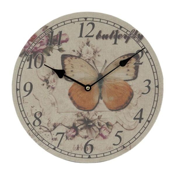 Nástenné hodiny Butterfly, 29 cm