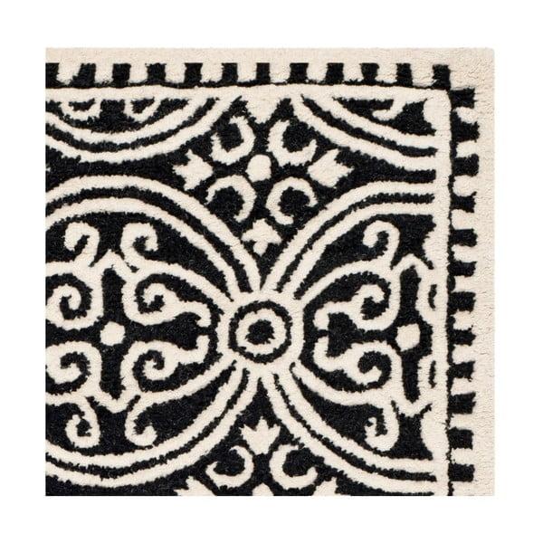 Vlnený koberec Marina Black, 121x182 cm