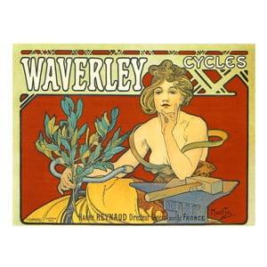 Obraz Alfons Mucha Waverley Cycles, 120x90 cm
