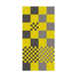Osuška Ladessa, žltá kocka, 70x140 cm
