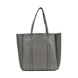 Sivá kožená kabelka Roberta M Parma Grigio