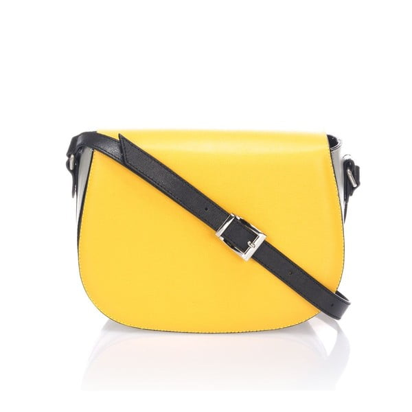 Kožená kabelka Krole Karina, žltá