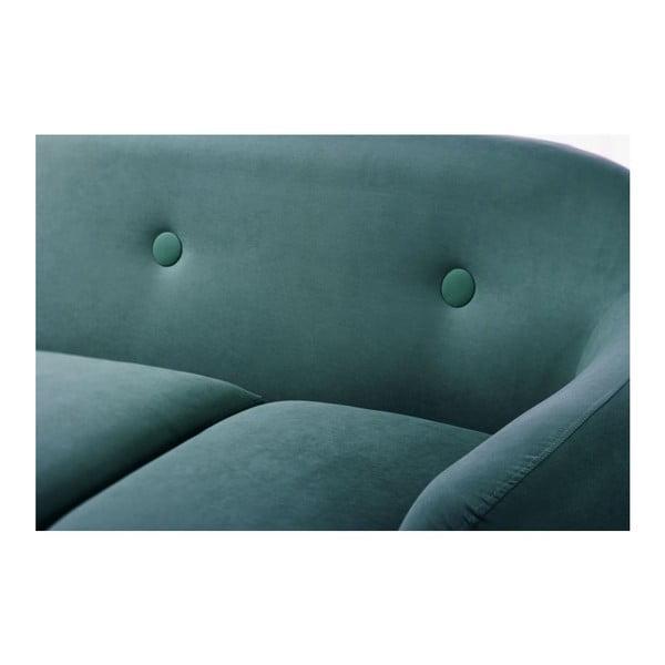 Pohovka Stella Turquoise s leňoškou na ľavej strane