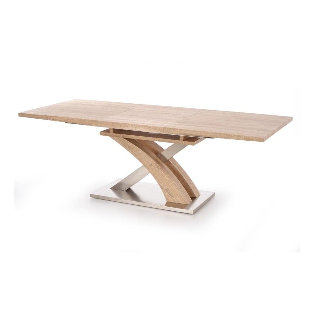 Rozkladací jedálenský stôl v dekore dubového dreva Halmar Sandor, dĺžka 160 - 220 cm