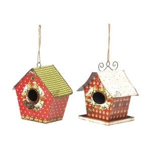 Sada 2 závesných dekorácií Bird Houses