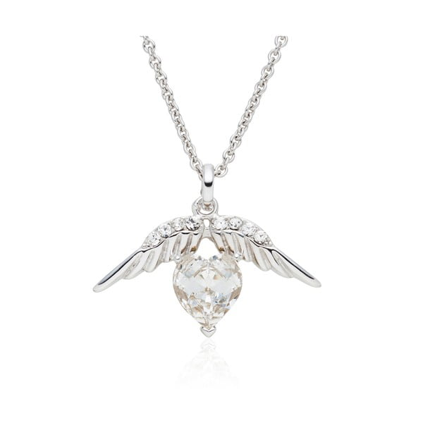 Náhrdelník so Swarovski Elements Heart Prong Crystal