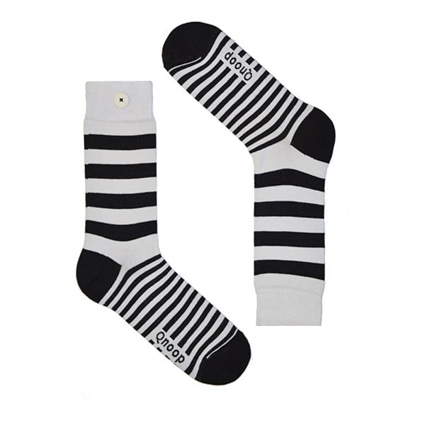 Ponožky Qnoop Linear Wide White, veľ. 39-42