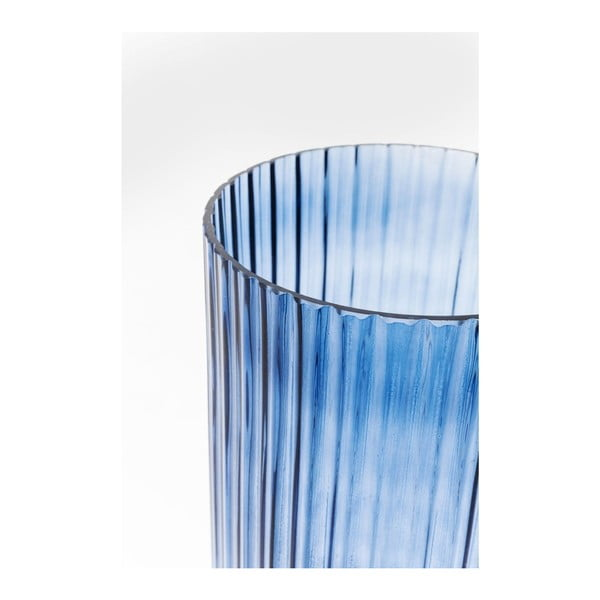 Modrá váza Kare Design Barfly Blue, 34 cm