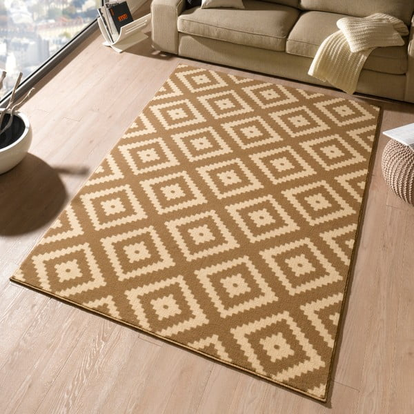Béžový koberec Hanse Home Hamleti Diamond, 120x170cm