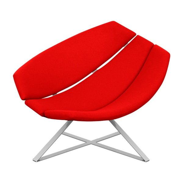 Červené relaxačné kreslo Softline Radar