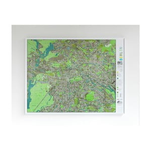 Zelená mapa Berlína The Future Mapping Company Street Map, 130 × 100 cm