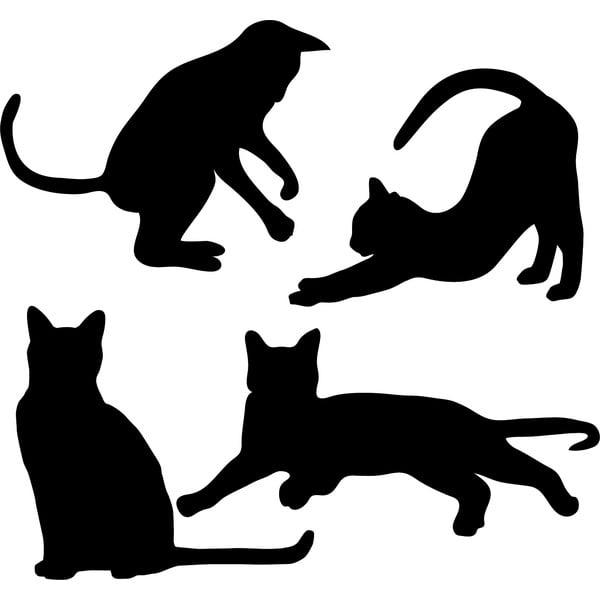 Samolepka na stenu Cats Silhouettes