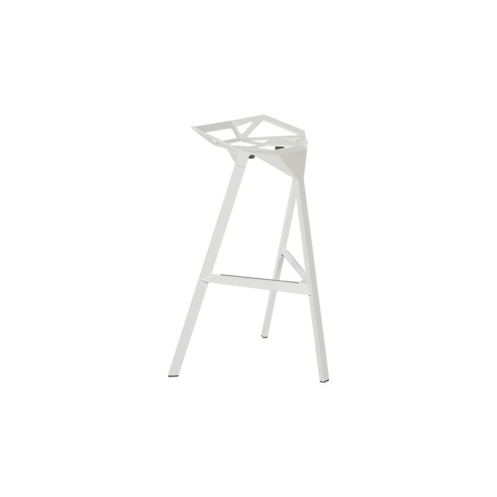 Biela barová stolička Magis Officina, výška 74 cm