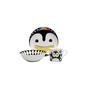 Detský raňajkový set z kostného porcelánu Silly Design Pop Pingwin