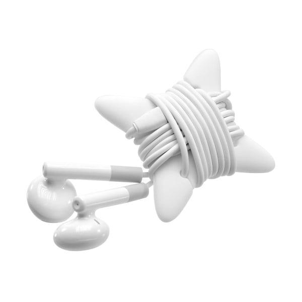 Biele slúchadlá s mikrofónom FIXED EGG2 a organizérom