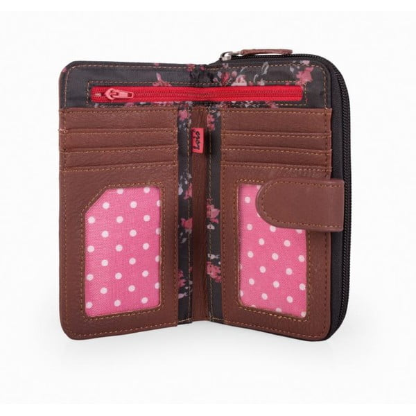 Peňaženka Lois Roses, 16x9 cm