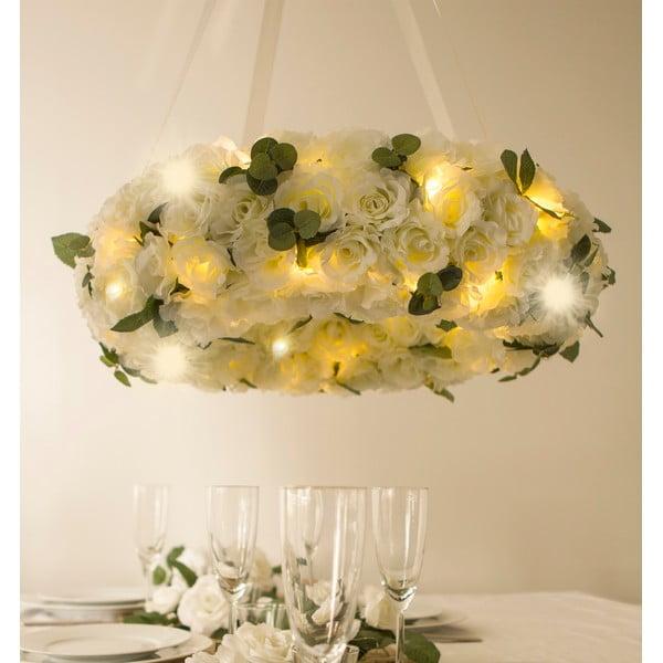 Svadobný veniec s LED svetielkami Rose Wreath