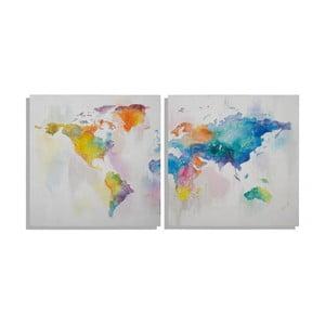 Viacdielny ručne maľovaný obraz Mauro Ferretti Mad World, 200 x 100 cm