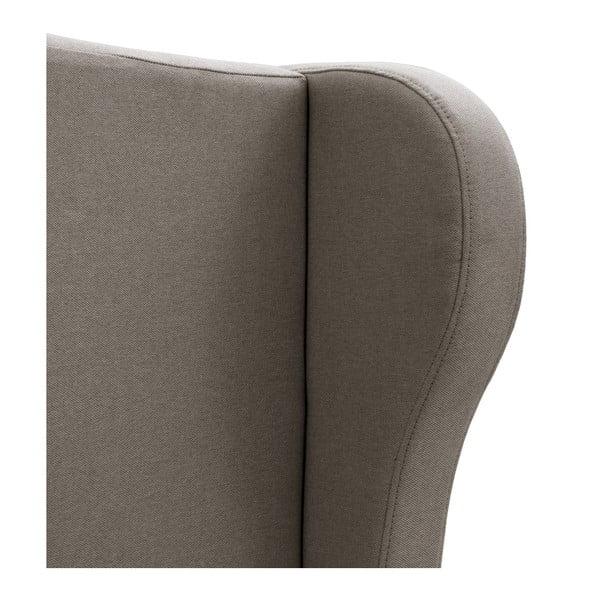 Sivá posteľ VIVONITA Windsor 160x200cm, čierne nohy