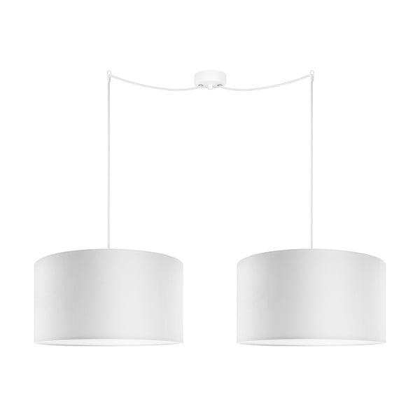 Sada dvoch závesných svietidieů Tres, biela, priemer 40 cm