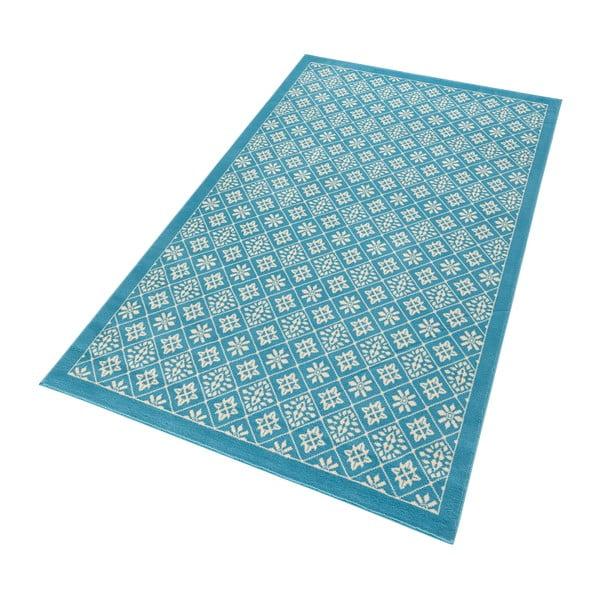 Svetlomodrý koberec Hanse Home Gloria Tile, 120 x 170 cm